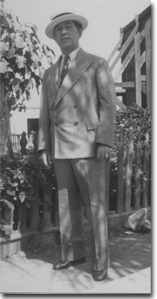 Tom's grandfather, Jack Giliberti, taken in Little Italy, San Diego, 1930.