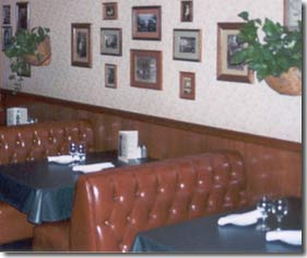 The booth section of Marino's Italian Restaurant.