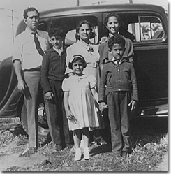 The little girl in the front is Tom's Mom, Mary Giliberti (Marino), the rest 	    are her parents, brothers, and sister: Grandfather Jack, Uncle Matteo, 	    Grandmother Josephine, Aunt Grace, and Uncle Philip.