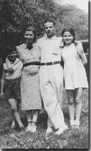 The Marinos: Tom's Dad, also named Tom, his Grandmother, Rose,  his Grandfather, Henry, and his Aunt Rose.
