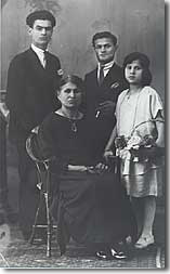 Tom's Great-Great Grandmother and her children, Italy 1878.