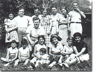 The Marino family picnic, July 4, 1938, in Pittsburgh, Pennsylvania